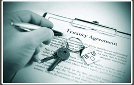 tenancy agreement being signed